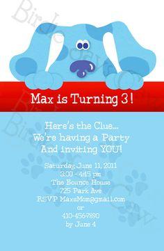 Blue's Clues Invitation