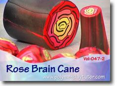 This Rose Brain Cane Tutorial is my (Cindy Lietz, Polymer Clay Tutor) twist on a combination of a Brain Cane and a Rose Cane. It is so simple to do, that I all most forgot to teach it to you all! See the teaser video for more examples.