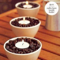 Maiko Nagao - diy, craft, fashion + design blog: DIY: Coffee bean candles