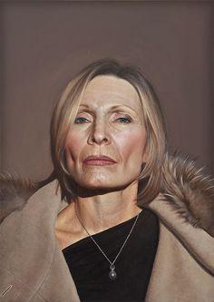 "Bryan Drury: Jann, 2011, Oil on wood, 18"" ""x 24"""