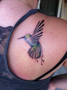 tattoo ideas, bird tattoos, hummingbird tattoo, soft colors, hum bird, a tattoo, beauty, flower, hummingbirds