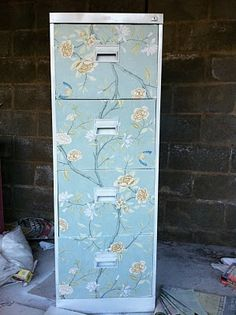 Refinish old filing cabinet