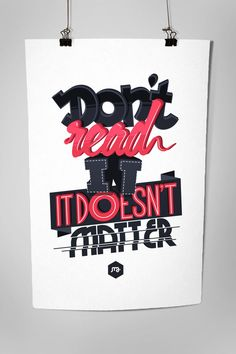 Creative Typography Inspiration - The Latest And Best Designs