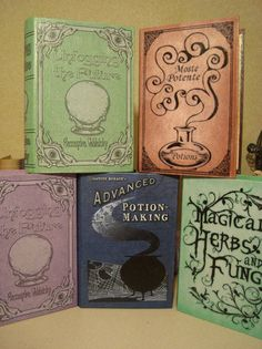 Hogwarts Textbooks... this is definitely what I want to fill my bookcase with :)