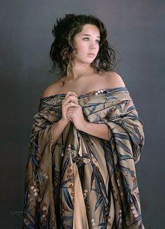 """Innocence"" - Duffy Sheridan, oil on linen {contemporary figurative beautiful female standing woman painting #loveart} duffysheridan.com"