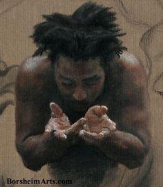 Kelly Borsheim [detail of male figure drawing]