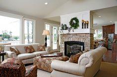 2 sided fireplace!!