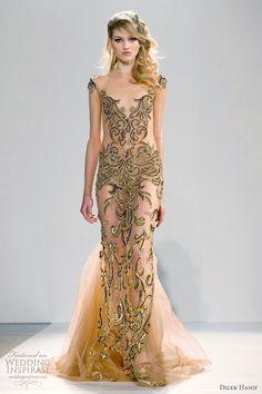 gold & black dress