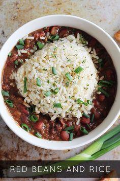 Red Beans and Rice via @Sheena Tatum (Sophistishe.com)