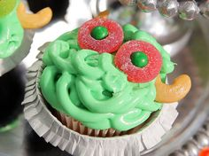 Monster Cupcakes recipe from Sandra Lee.