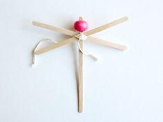 DIY Wooden Stick Damselfly Craft for Kids