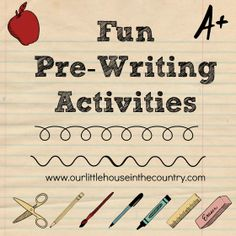 Fun Pre Writing Activities