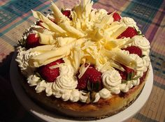 Junior's White Chocolate Strawberry Cheesecake