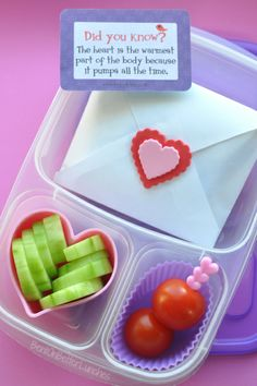Adorable Love Letter Lunch   packed in @EasyLunchboxes containers