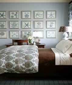 Watery blue Nautical Bedroom Ideas #decor #interiors #home