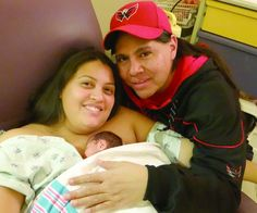 """Proud parents Ashley Brooke Brown and Shawn Spruce with their New Year's Baby, Celeste Shawna Spruce who was born 9-1/2 weeks preterm due to preeclampsia. Dad writes, """"The entire staff at Mission Hospital has been wonderful along with our primary care doctors at Smokey Mountain OB and of course the great people at Cherokee Indian Hospital.  I'd also personally like to thank the entire community of Cherokee, North Carolina...Brooke and I now look forward to raising a strong Native woman who will represent her Eastern Band people here and the Laguna Pueblo, where I am from, with dignity, self-respect, and character."""""""