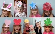Make your own Holiday Hat from a paper plate.