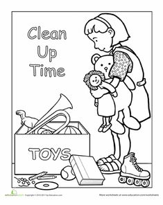 preschool good manners coloring pages - photo#22