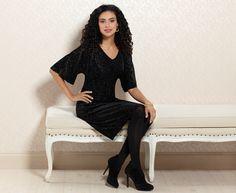 #Soma Devore Velvet Dress in Black #SomaIntimates