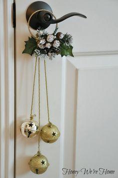 Christmas Craft- love this  jingle bell door hanger
