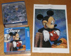 Great Disney-themed image on a challenging Mickey Mouse Photomosaics jigsaw puzzle by Robert Silvers. #puzzles #mickeymouse