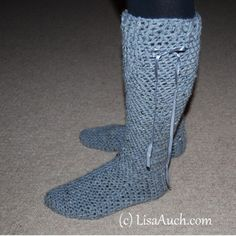 The Finished crocheted feet and Boot Warmers