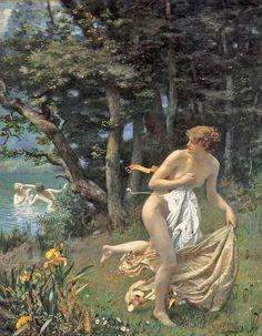 'Diana's Maidens' by Edward Robert Hughes.