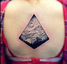 Mountain tattoo #blackworkers