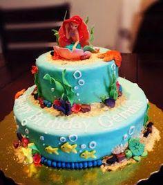 Little Mermaid Birthday! birthday parti, little mermaid birthday, birthdays, party stuff, the little mermaid, mermaid cakes, parti idea, sweet dreams, birthday cakes
