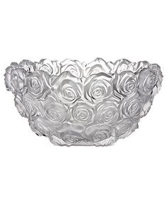 Monique Lhuillier Waterford Crystal Bowl, Sunday Rose - Bowls & Vases