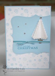 Stampin' Up! Christmas tree from pennant punch