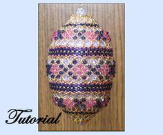 The Horizontal Ribbon Sparkler Beaded Ornament by Paula Adams AKA Visions by Paula