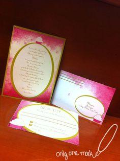 Refined Cupcake Invitation by OnlyOneMarkINC on Etsy, $45.00