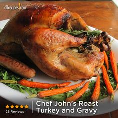 "Chef John's Roast Turkey and Gravy | ""Although I am not much of a cook, this recipe is virtually foolproof! It was perhaps the most tender and moist bird that I have ever cooked."""