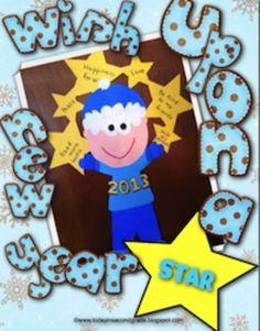 Wish Upon a New Year Star Craftivity