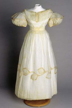 1832 Wedding dress, United States (North Carolina) via the North Carolina Museum of History