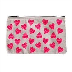 Pencil Case - Neon Hearts