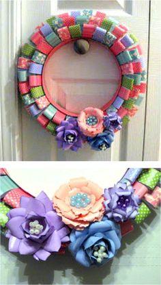 Spring Wreath :: by lovebugcreations3.blogspot.com