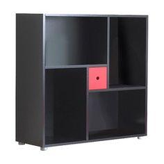 bookcases, blink bookcas, offic, bookcas cube, cubes, furnitur, drawer, tvilum blink, black