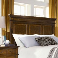 American Heritage Panel Headboard Size: Full/Queen    Features: -Finish: Aged cherry. -Material: Poplar solids and cherry veneers.    $398.64