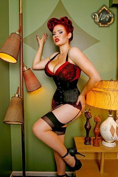 """Curvy. """"Her name is Gia Genevieve. Pin-up model"""""""