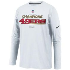 Nike San Francisco 49ers 2012 NFC Champions Trophy Collection Long Sleeve T-Shirt