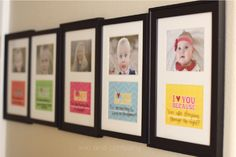 Write Your Kids Love Notes on Framed Photos - Decorating with Pictures at KristenDuke.com