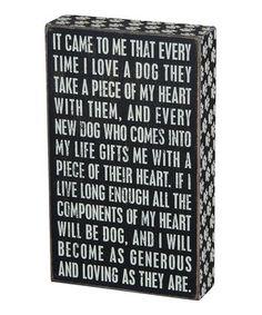 'Loving Dog' Box Sign by Primitives by Kathy #zulily #zulilyfinds