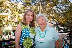 Emmanuel College Alumni St. Patrick's Event   Naples, FL   3.15.14 - Jane Boland Clark '75 with her aunt Carol Doane Callahan '52