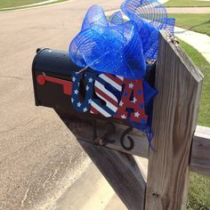 4th mailbox decor God bless America america garden decorations, mailbox decor