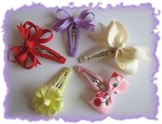 Ribbon-covered snap clips
