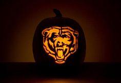 chicago bears jack-o-lantern!