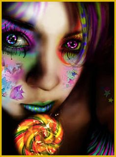 Crazy party makeup