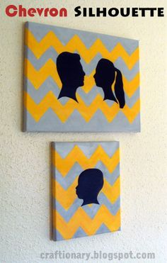 Chevron painted canvas tutorial (silhouette project)